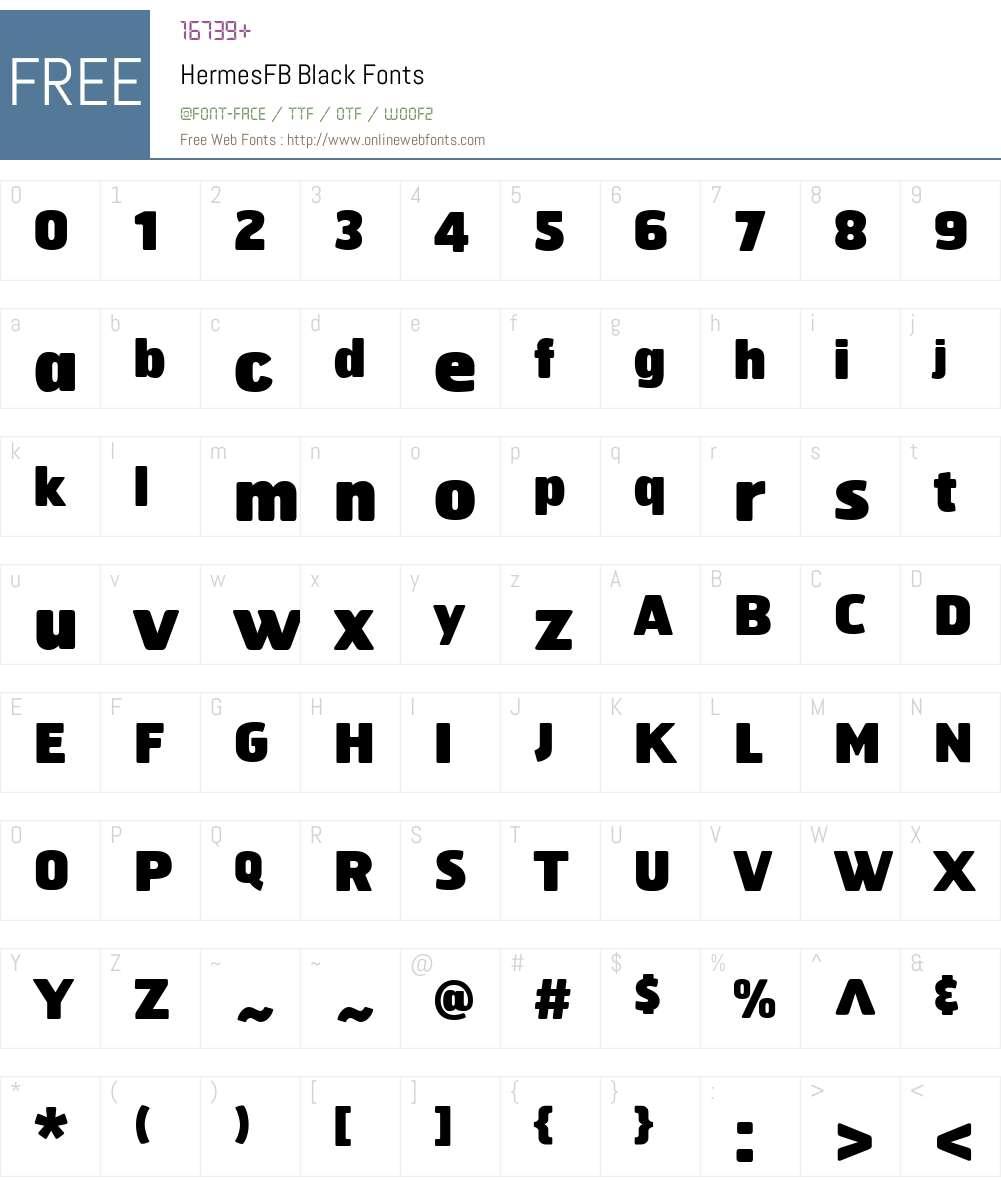 HermesFB Font Screenshots