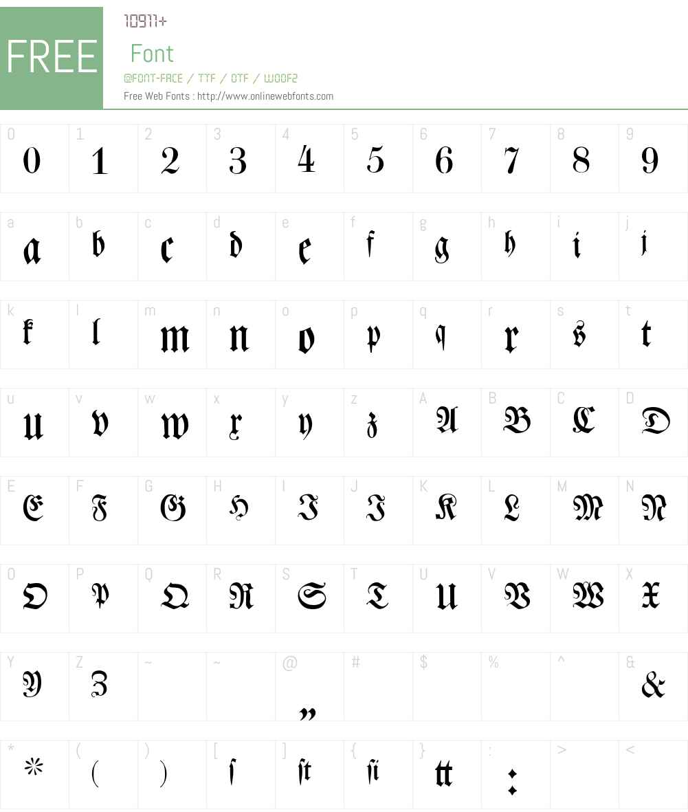 Leibniz-Fraktur Font Screenshots