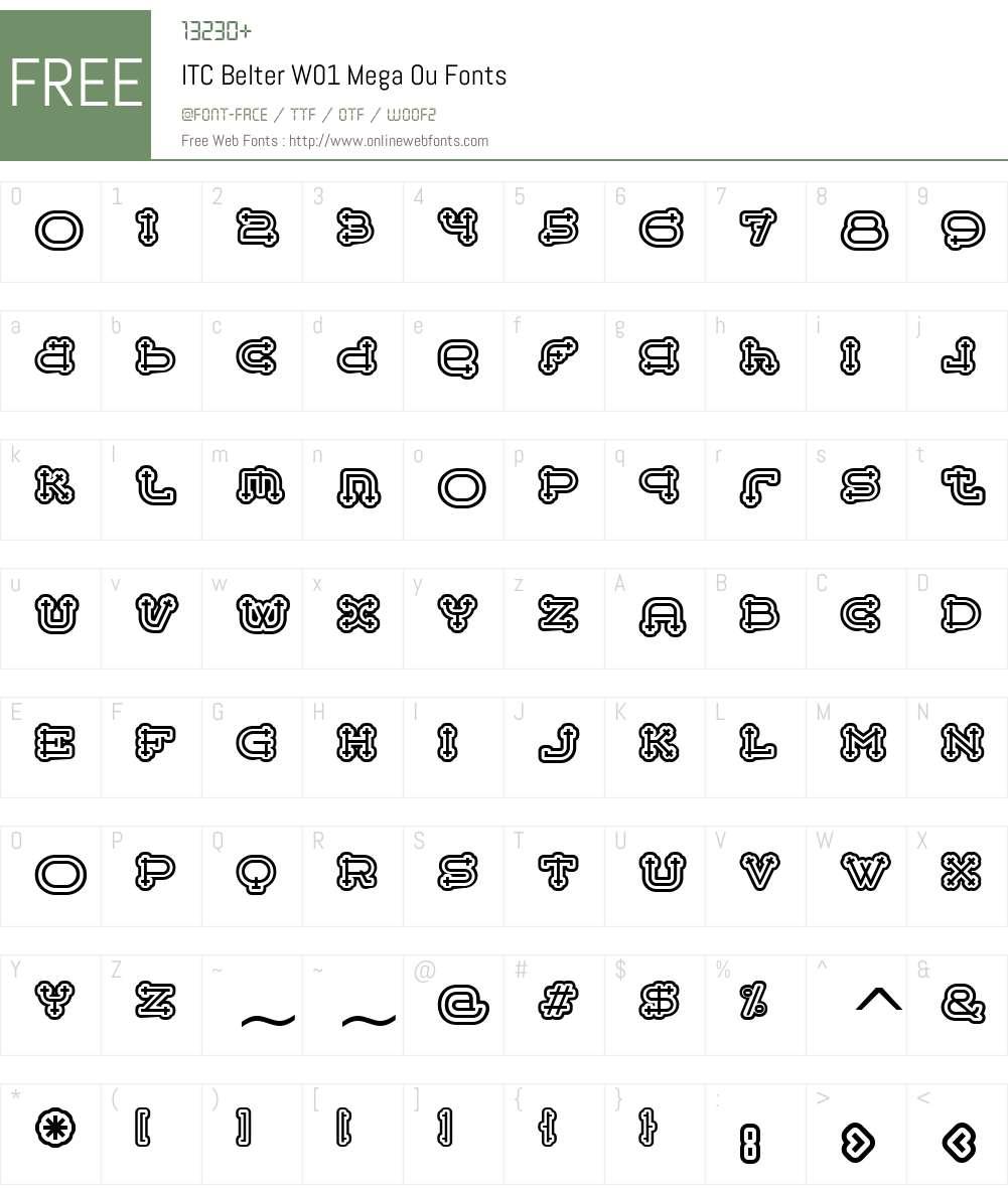 ITCBelterW01-MegaOu Font Screenshots