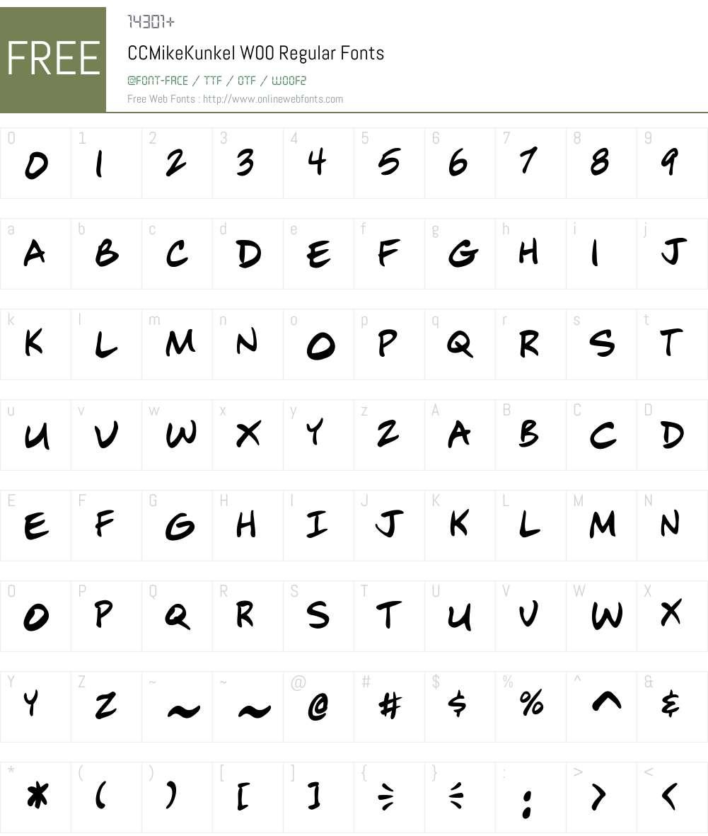 CCMikeKunkelW00-Regular Font Screenshots