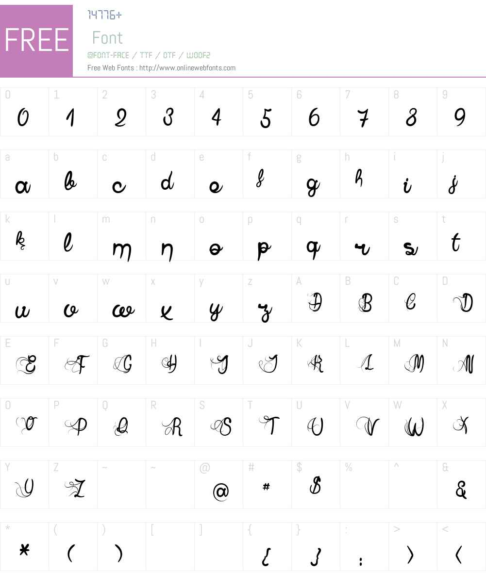 Anne Exilum Font Screenshots