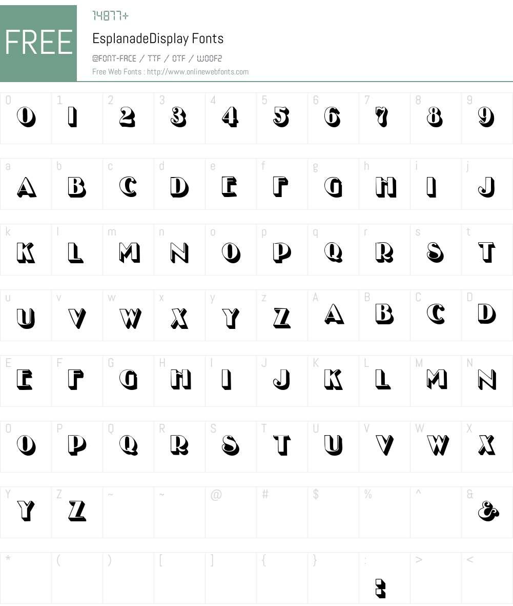 EsplanadeDisplay Font Screenshots
