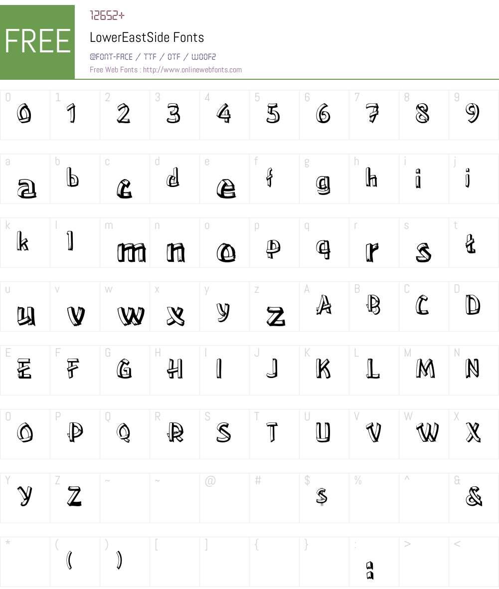 LowerEastSide Font Screenshots
