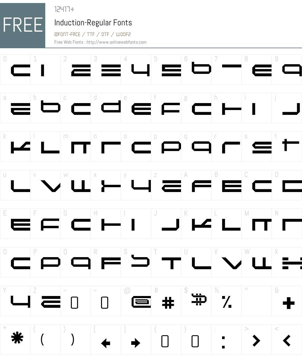 Induction Font Screenshots