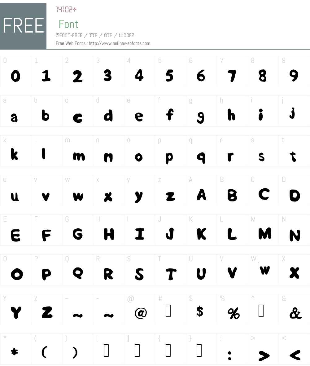 Rounded Semibold Font Screenshots