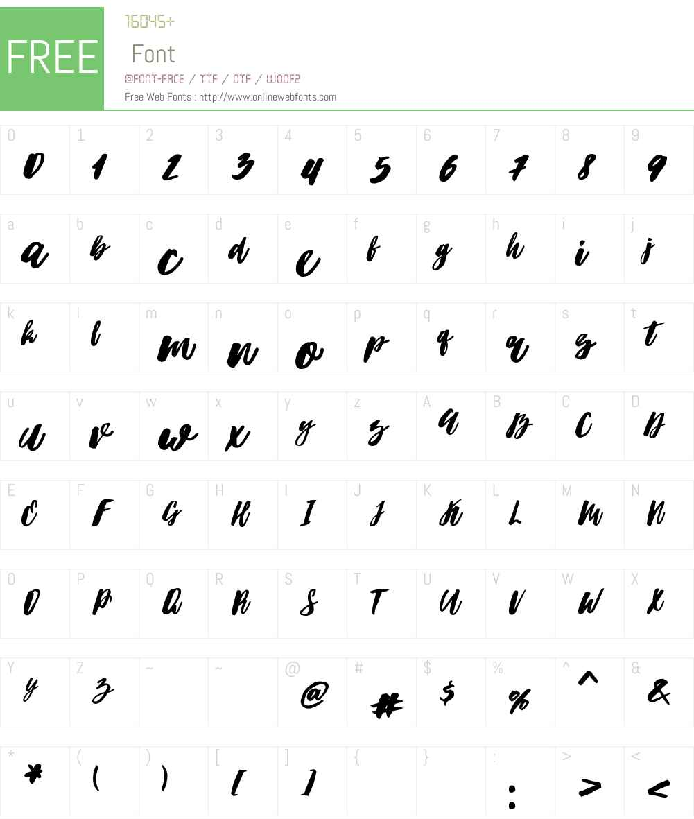 Hubster Font Screenshots