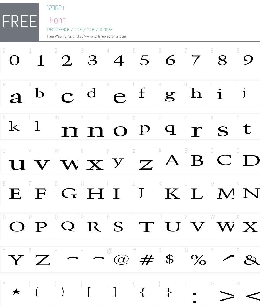 Activa Extended Font Screenshots