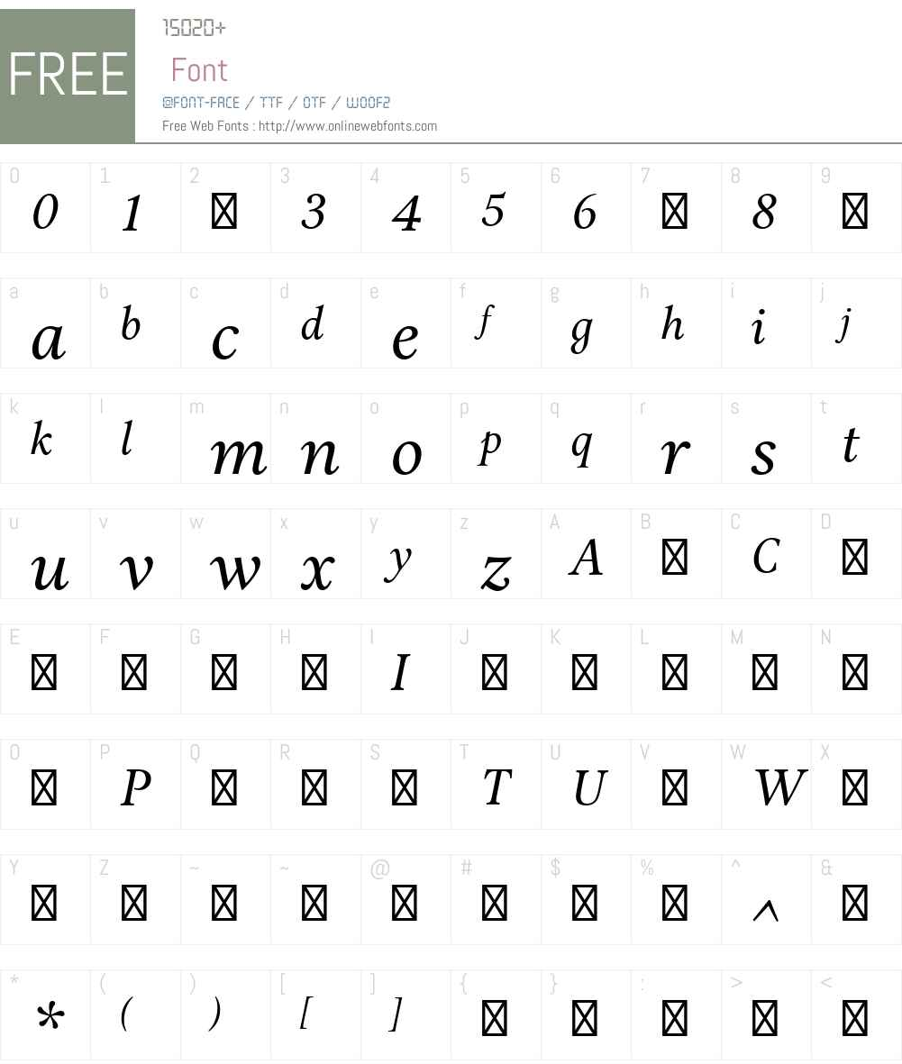 AriaTextG2-Italic Font Screenshots