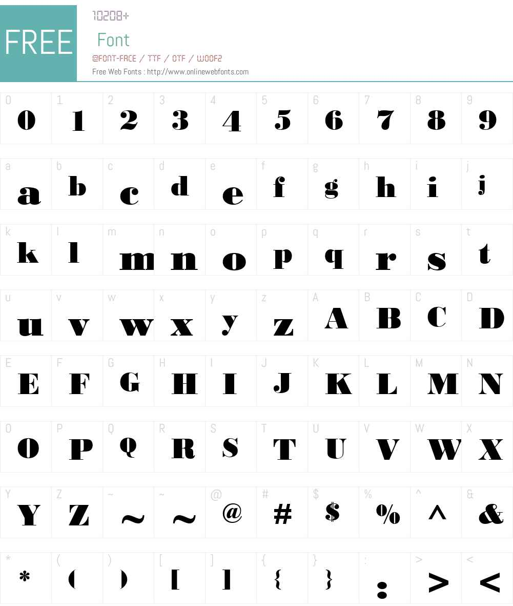 Bodoni MT Black Font Screenshots