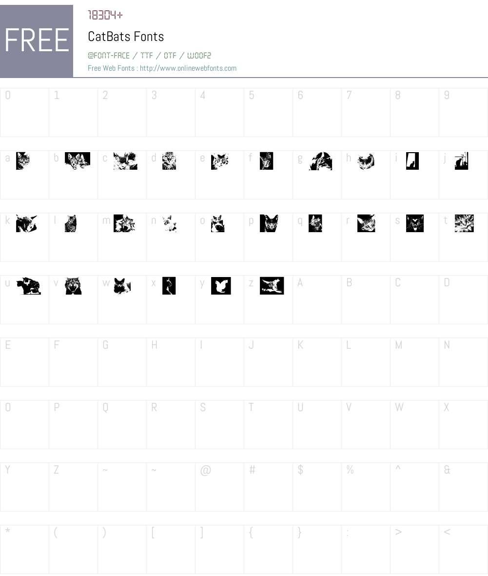 CatBats Font Screenshots