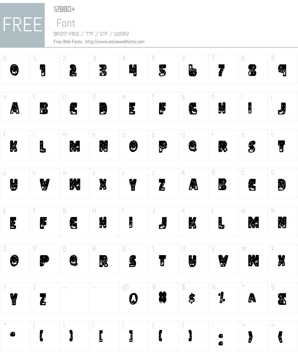 Land Shark Condensed Font Screenshots