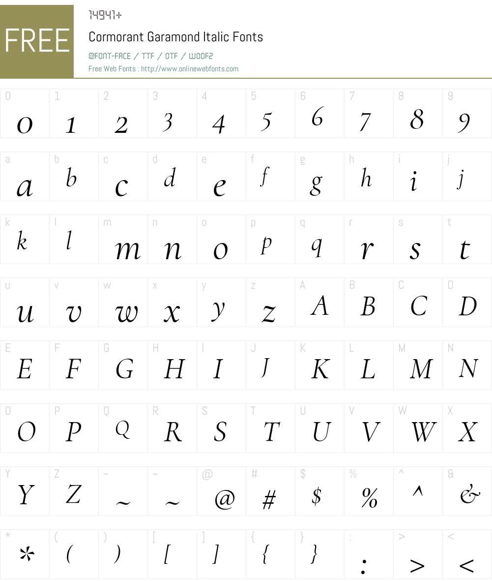 Cormorant Garamond Font Screenshots