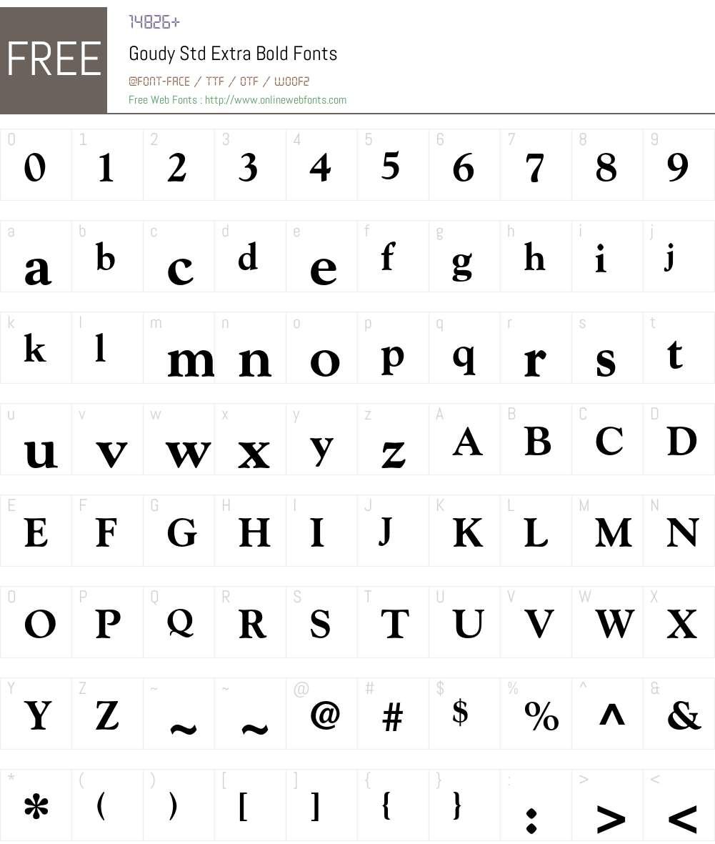 Goudy Std Font Screenshots