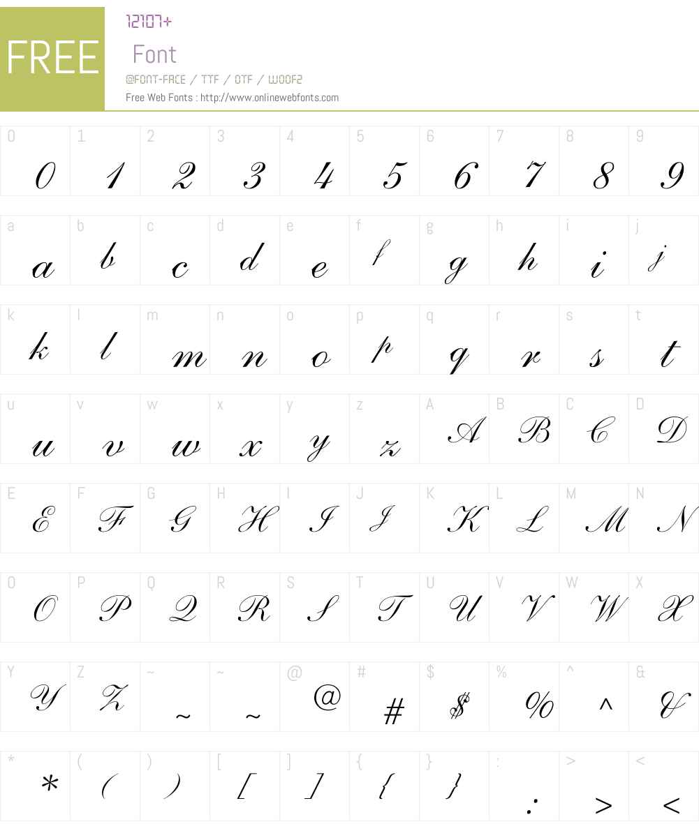 ShelleyAndanteScript-Normal Font Screenshots