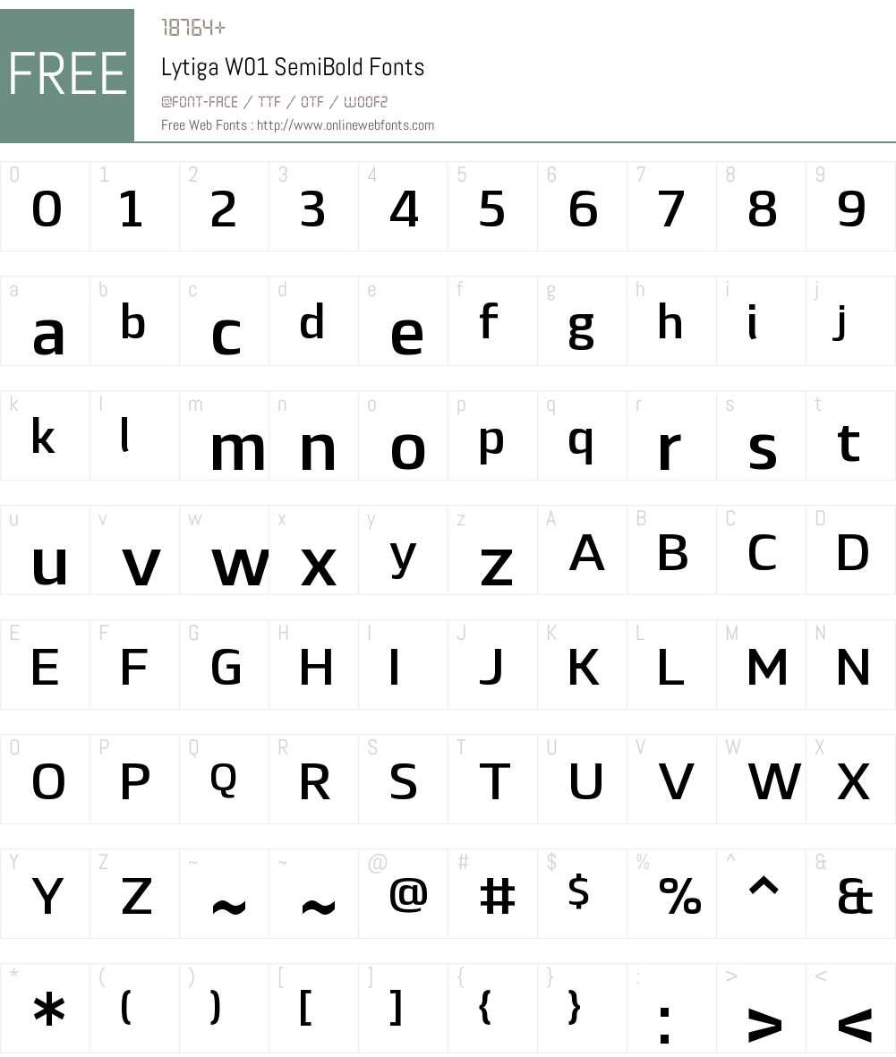 LytigaW01-SemiBold Font Screenshots