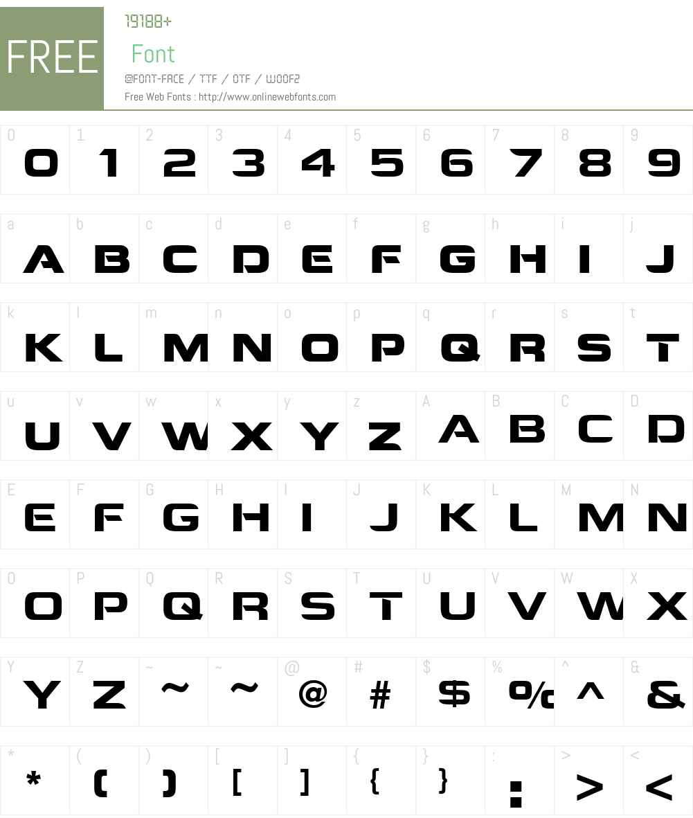 URWCorporateW01-Normal Font Screenshots