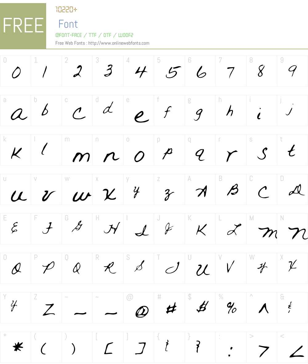 Rai Font Screenshots