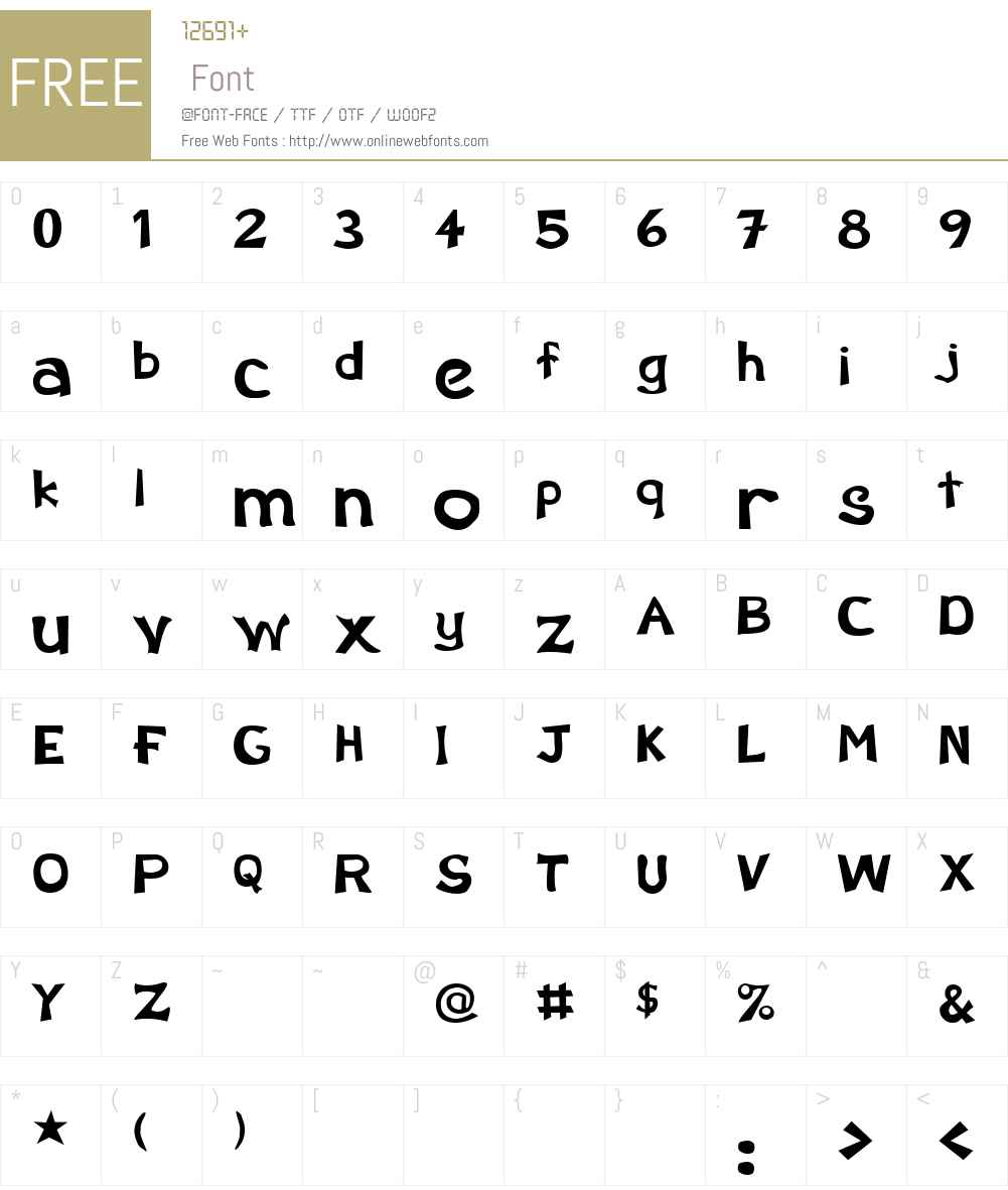 Schootz Font Screenshots