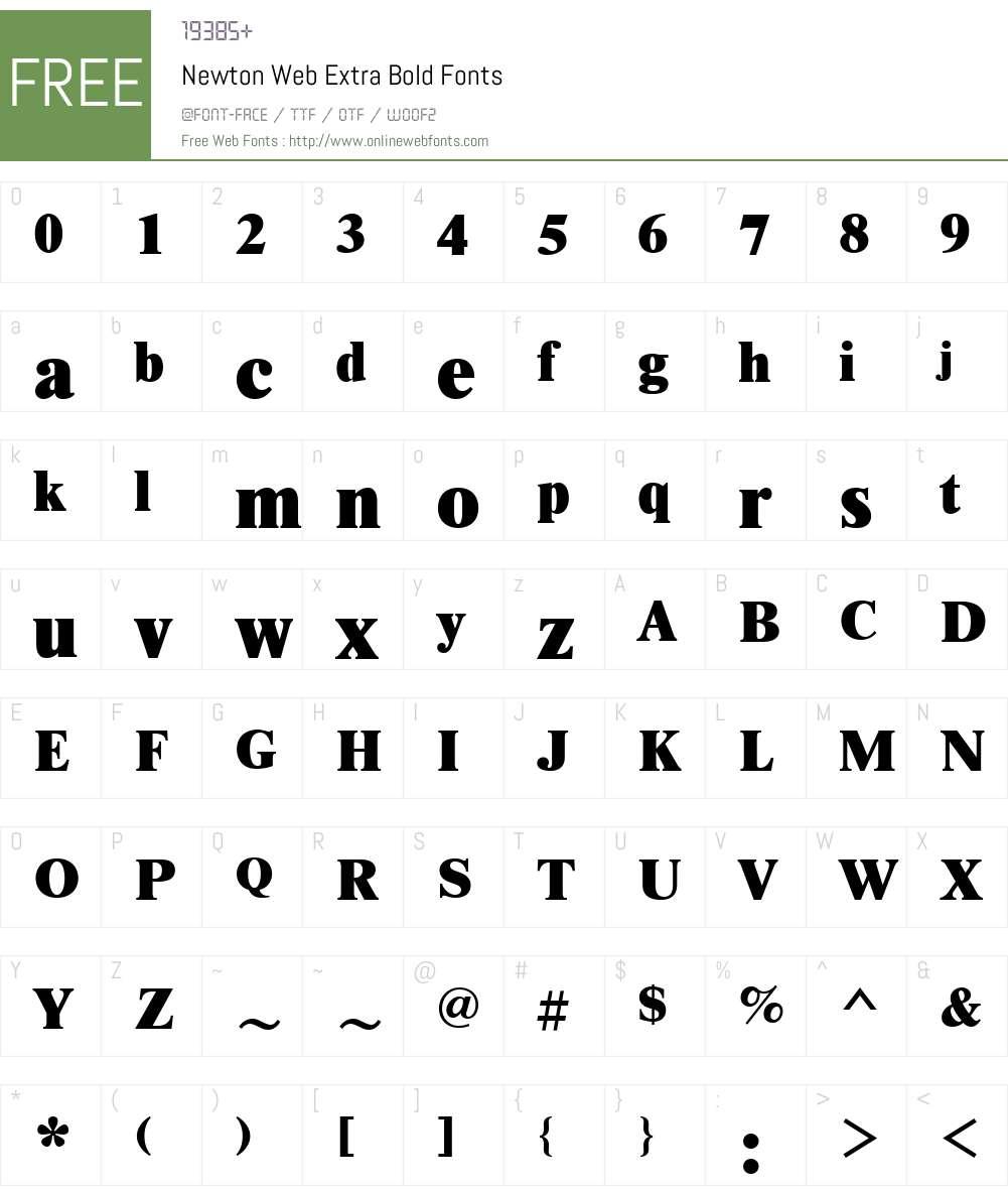 Newton Web Extra Bold Font Screenshots