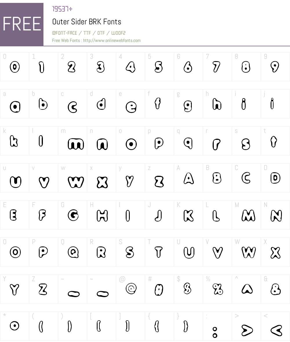 Outer Sider BRK Font Screenshots