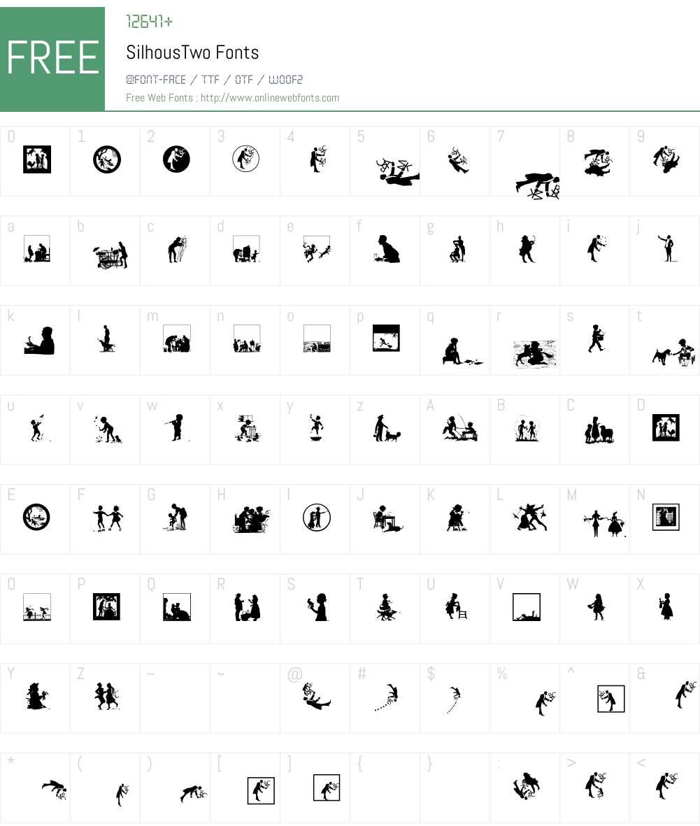 SilhousTwo Font Screenshots
