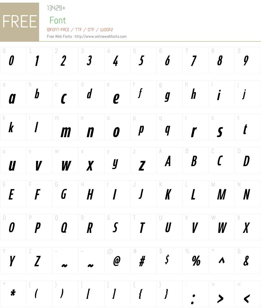 CoegitW01-CompactMediumItal Font Screenshots