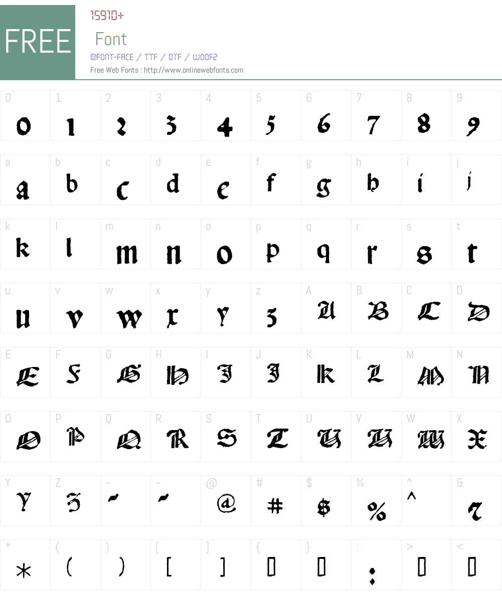 1483RotundaLyonW00-Regular Font Screenshots