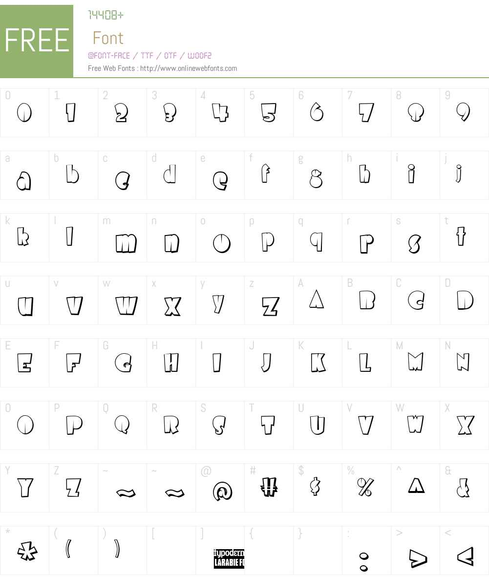 Airmole Shaded Font Screenshots