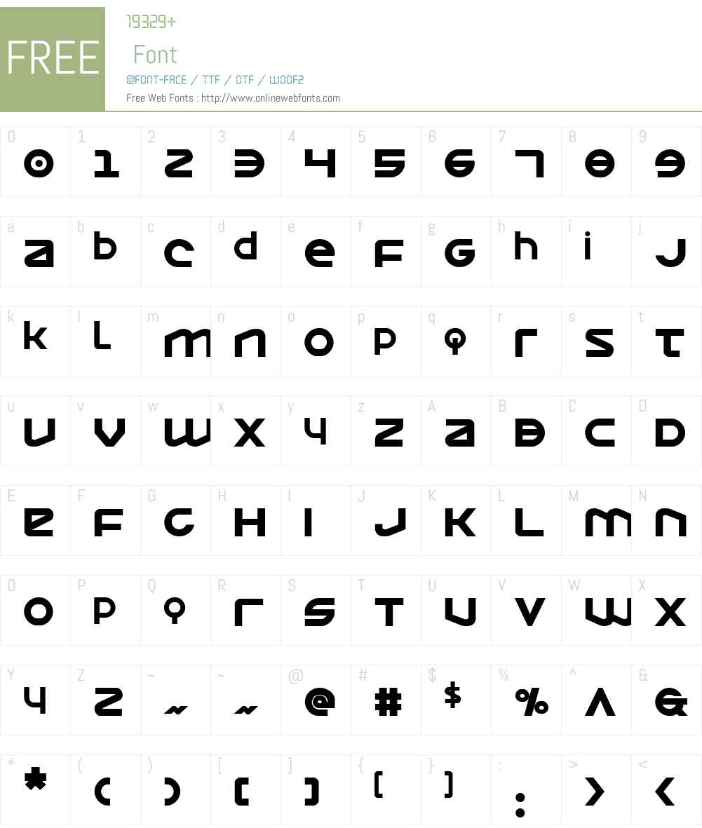 Opilio Bold Font Screenshots