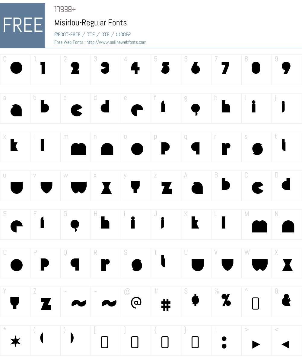 Misirlou Font Screenshots
