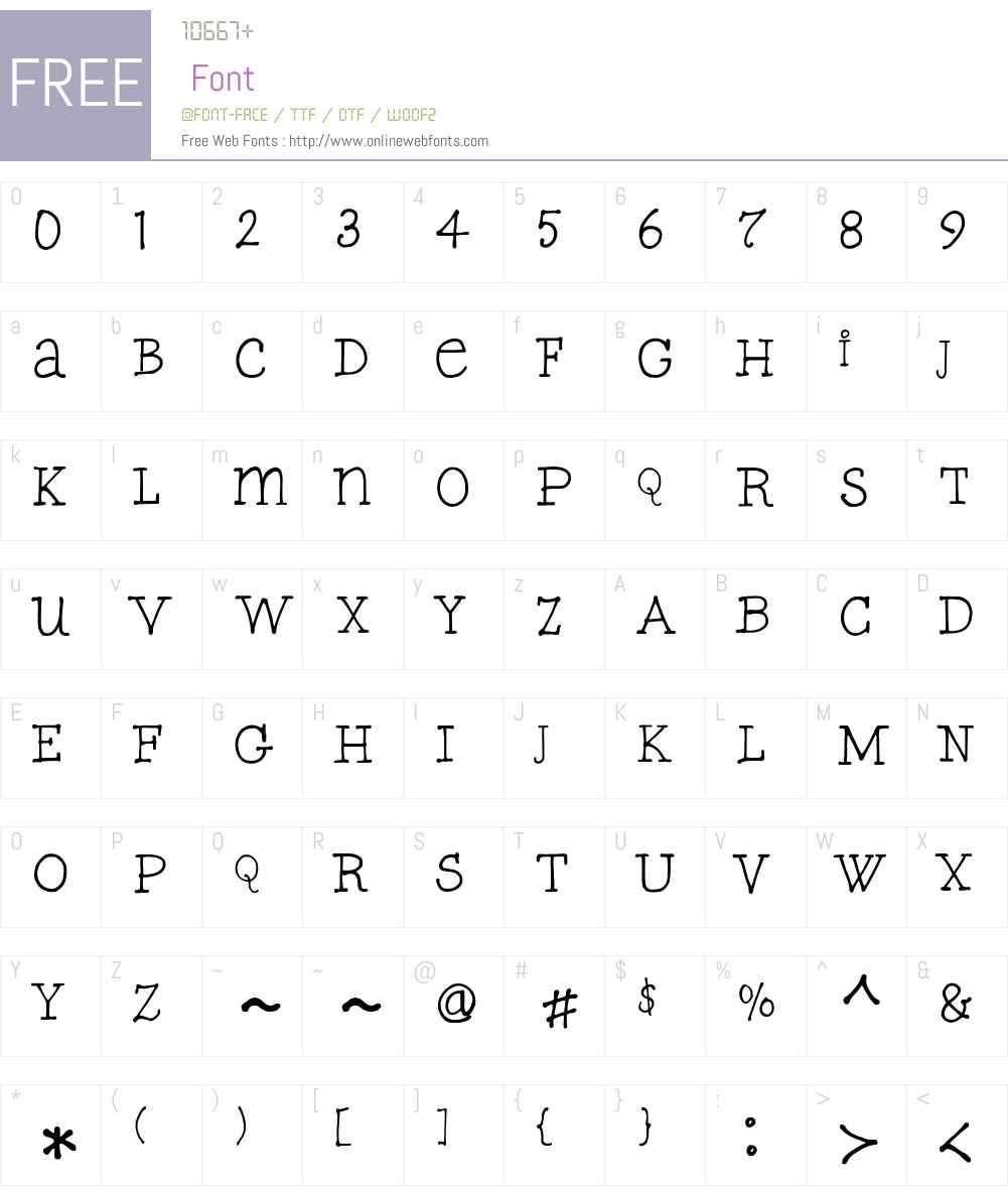 FGTypicalW00-Regular Font Screenshots