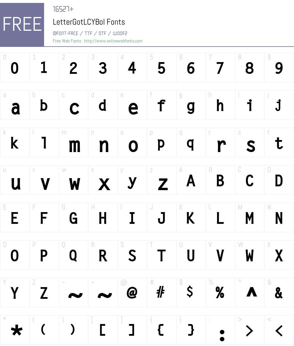 LetterGotLCYBol Font Screenshots