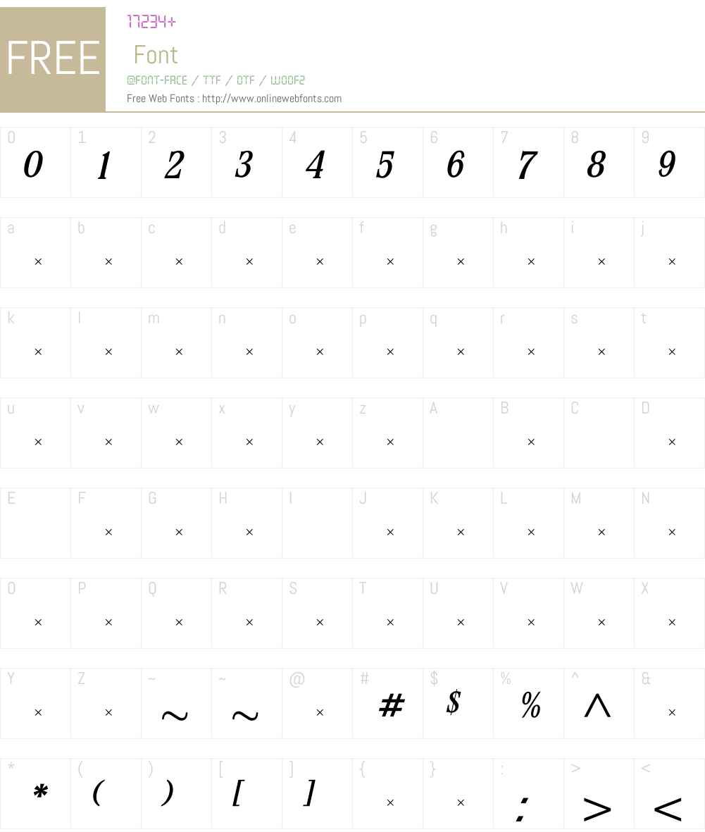 StirlingMediumItalicTab Font Screenshots