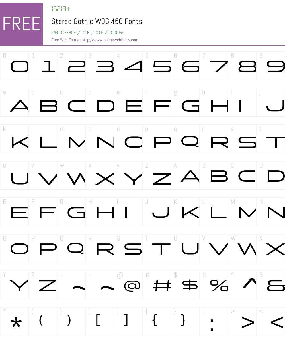 Stereo Gothic Font Screenshots