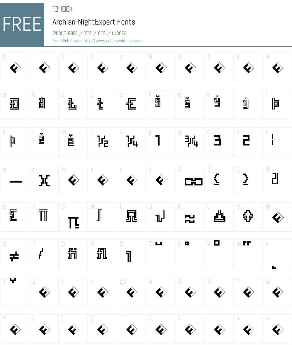 Archian Font Screenshots