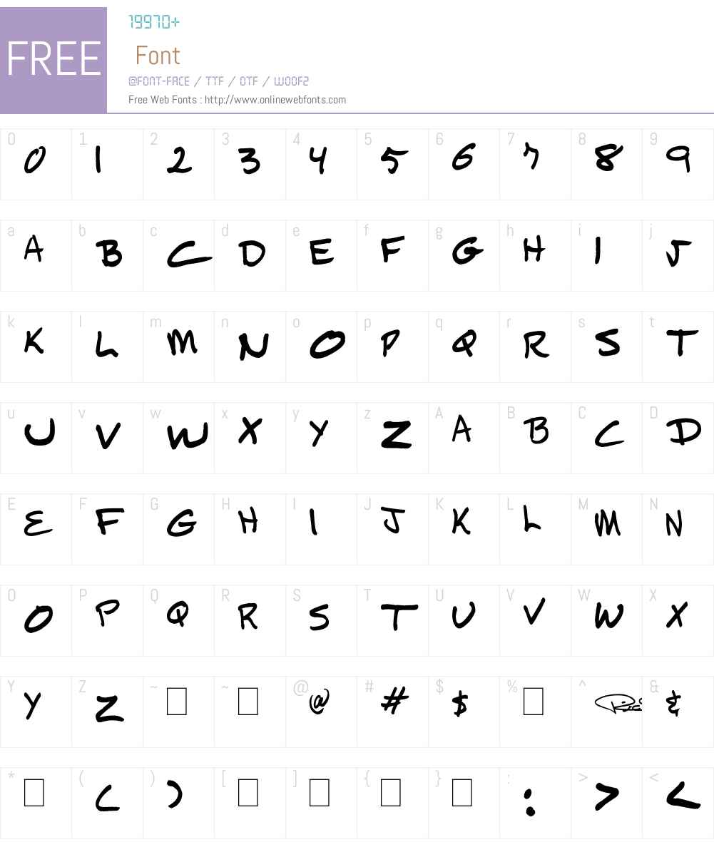 TickyRic Font Screenshots