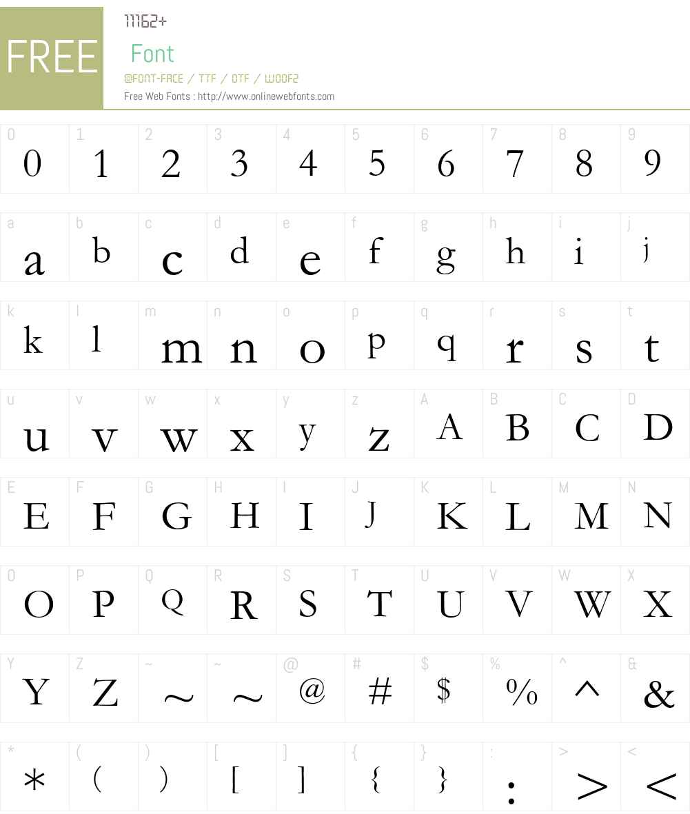 Garamond MT Font Screenshots