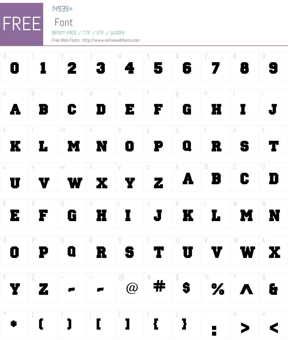 Letterman-Solid Font Screenshots