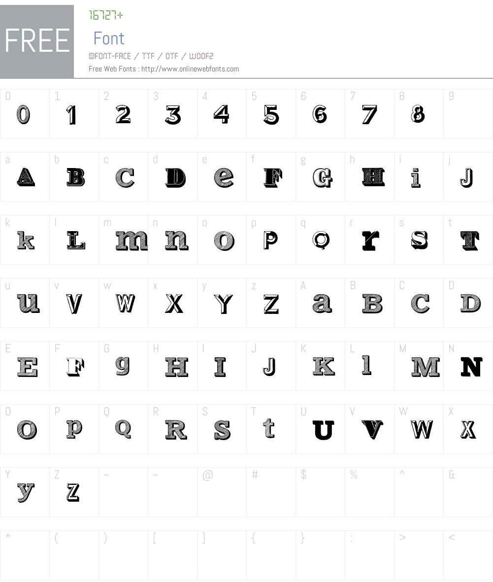 Varius Multiplex Personal Edition Font Screenshots