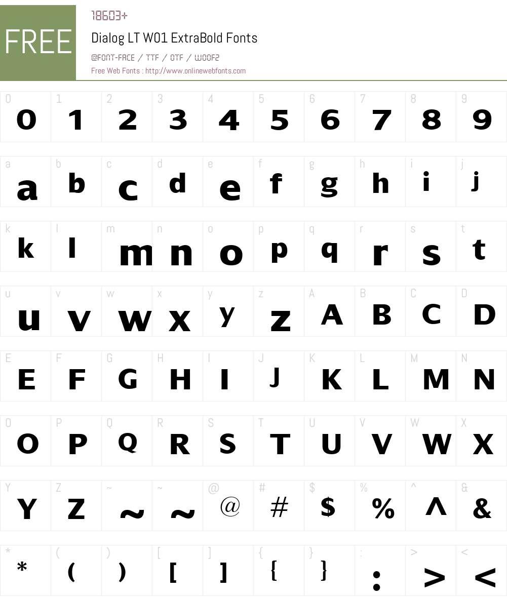 DialogLTW01-ExtraBold Font Screenshots
