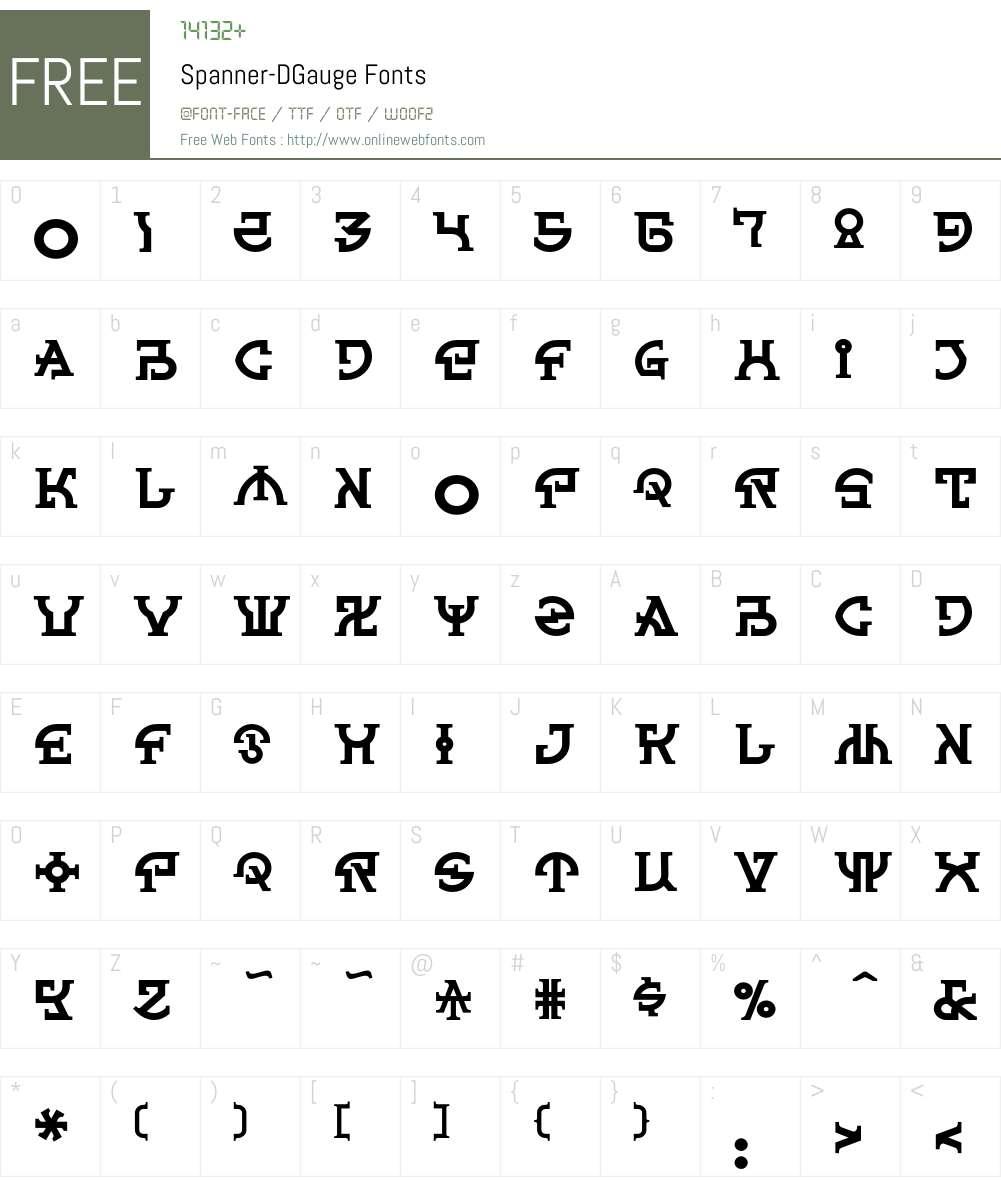 Spanner Font Screenshots