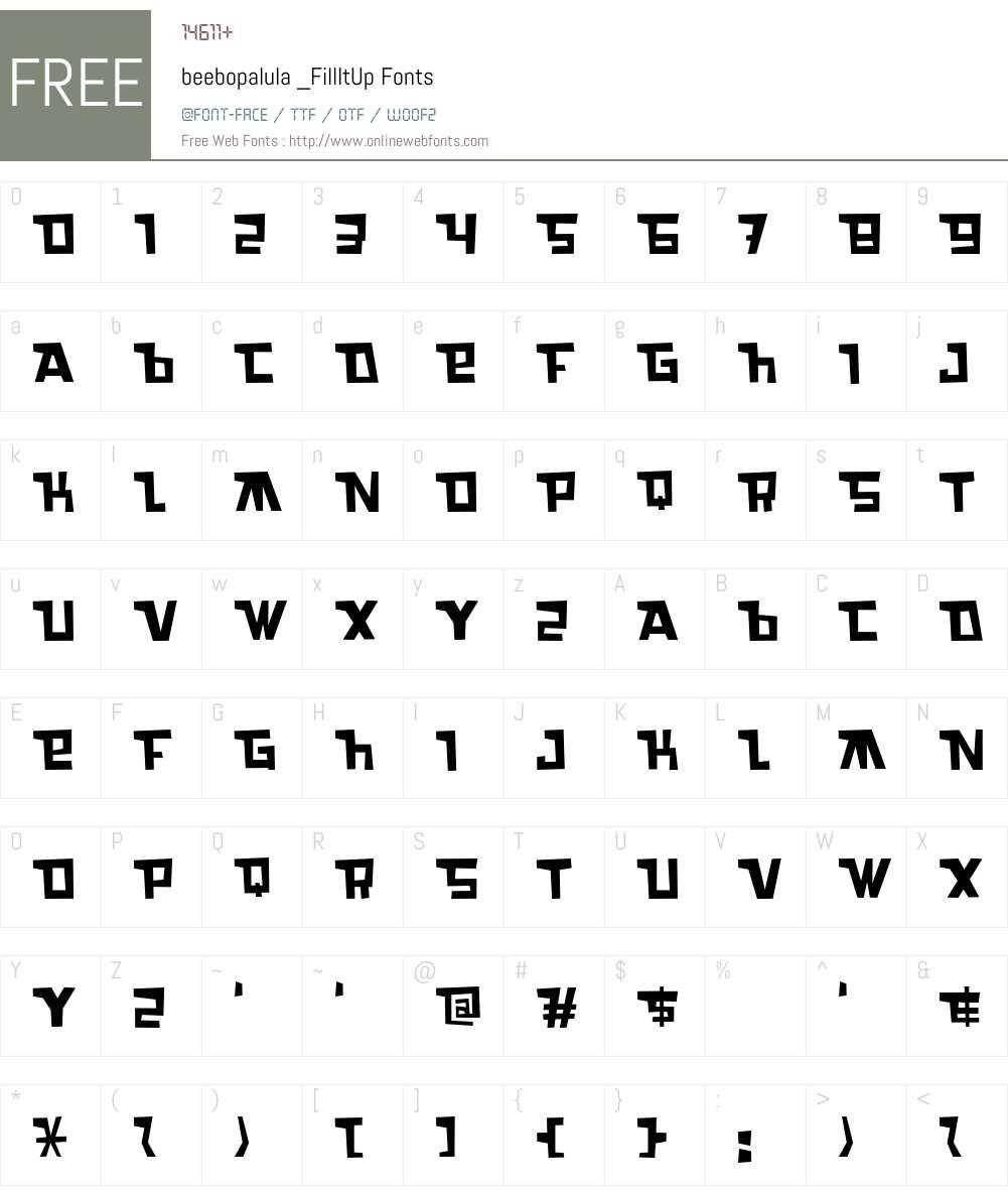 beebopalula Font Screenshots