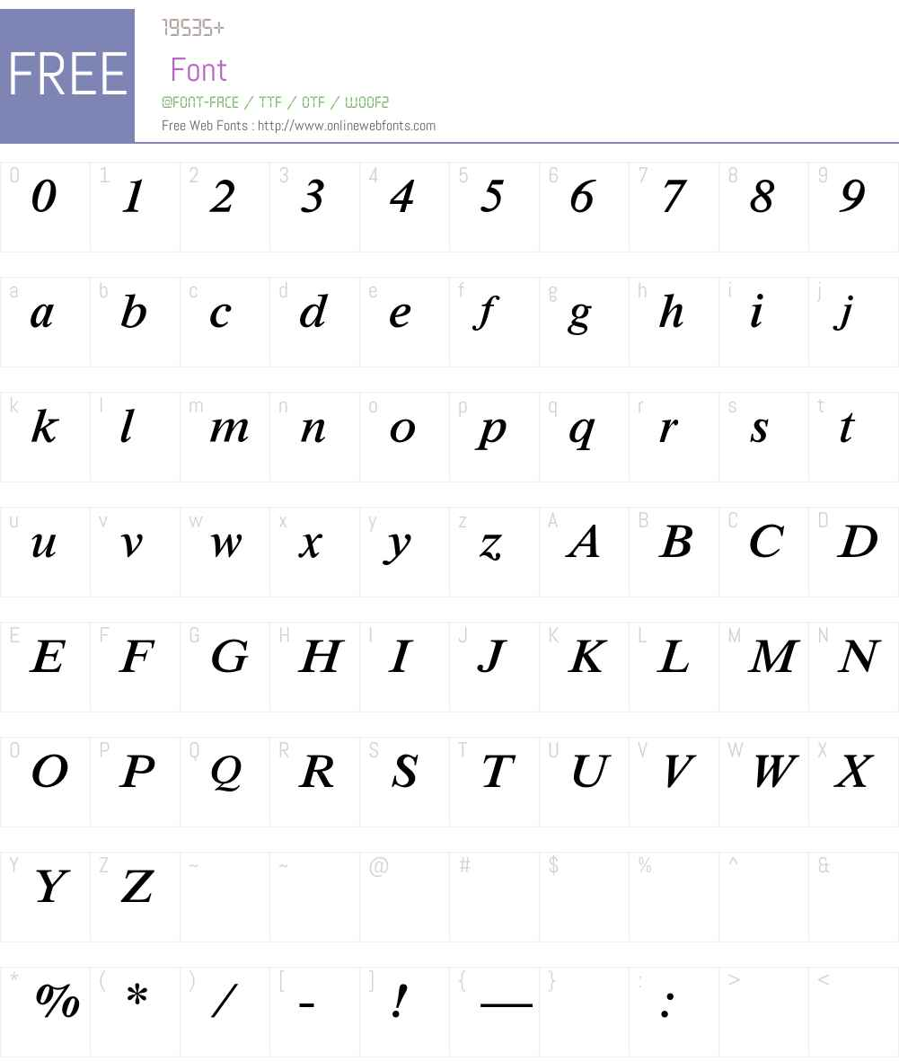 MathTechnical Font Screenshots