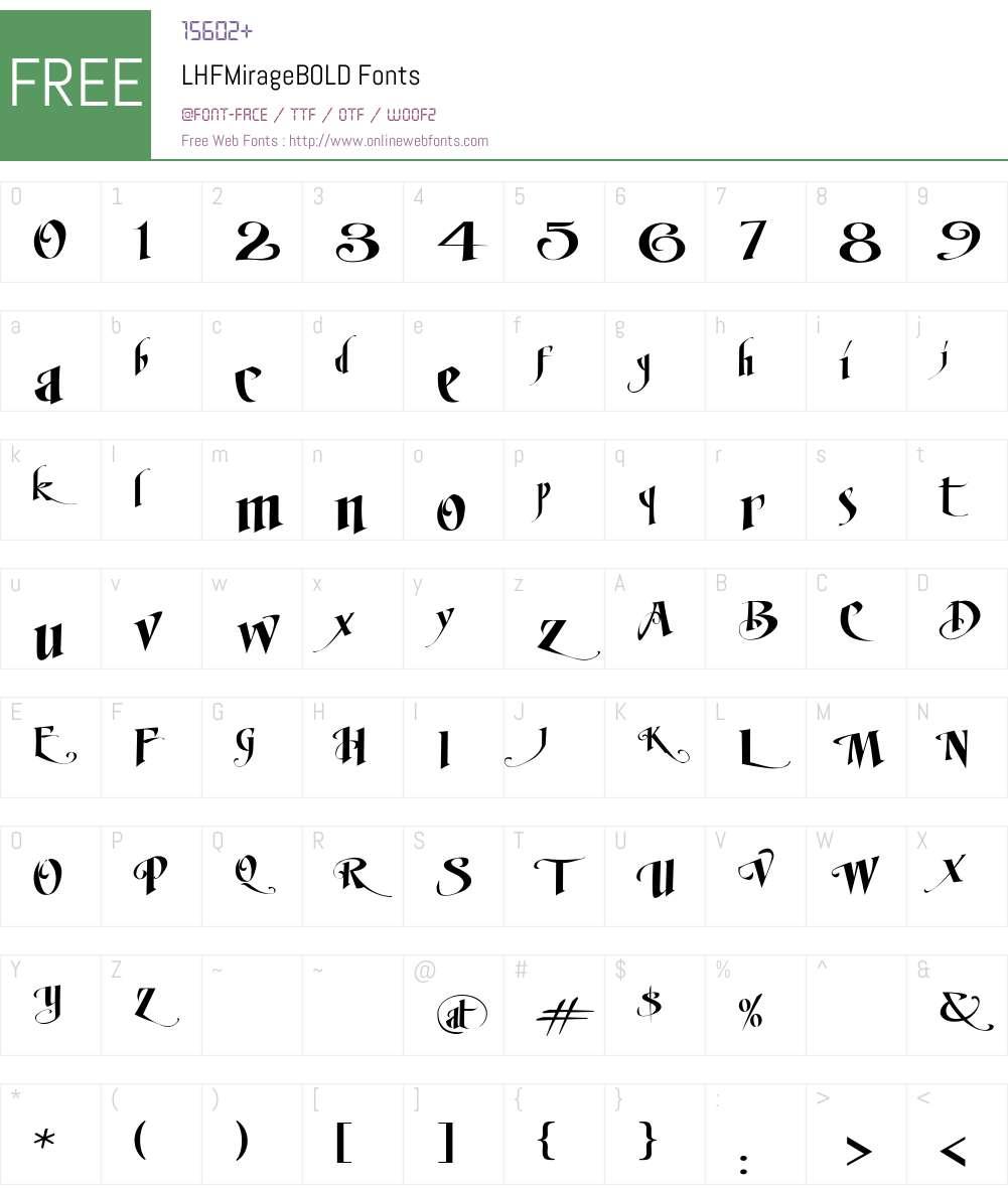 LHFMirageBOLD Font Screenshots