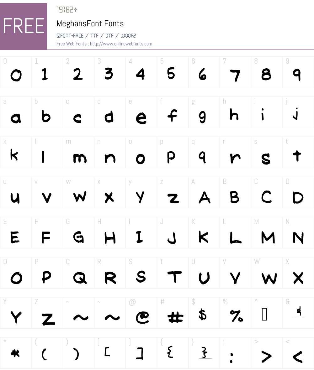 MeghansFont Font Screenshots