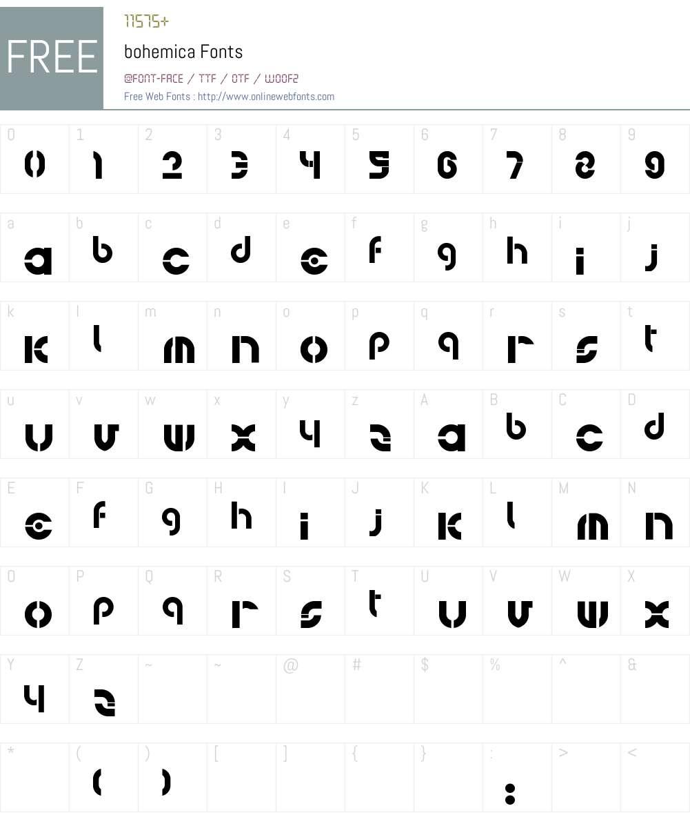 bohemica Font Screenshots