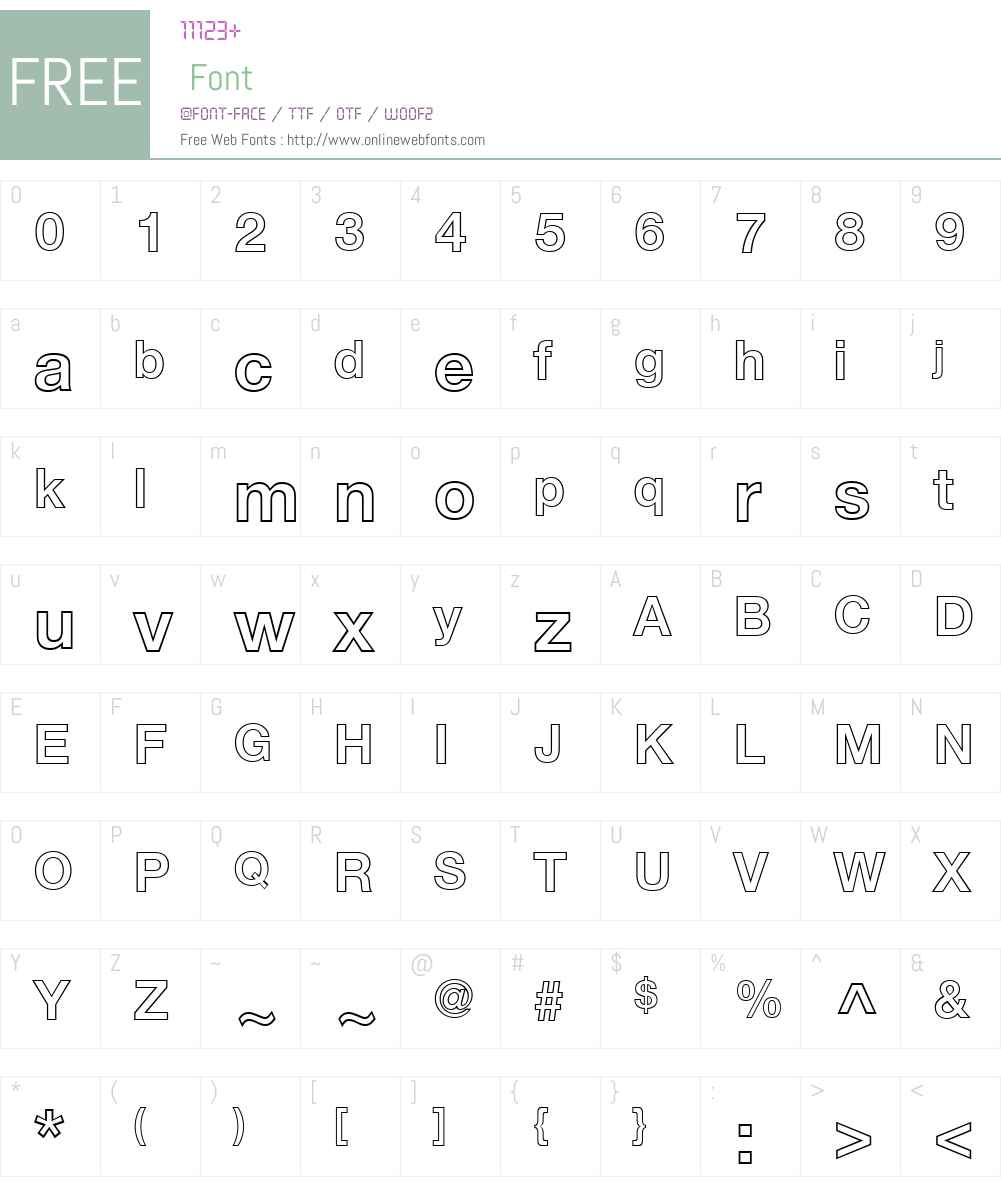 HelveticaNeueW01-BdOutline Font Screenshots