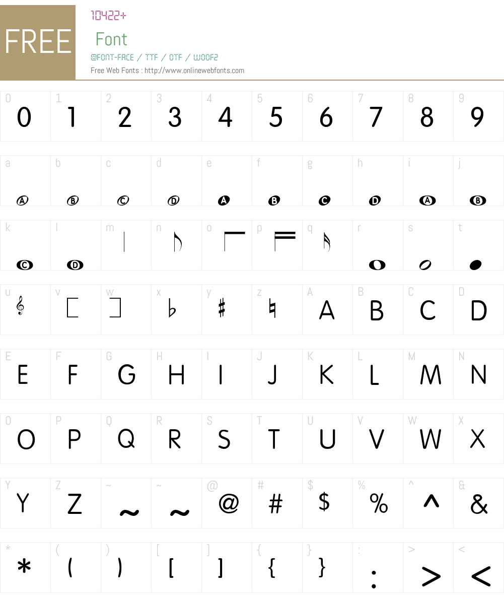 KIDdemo Font Screenshots