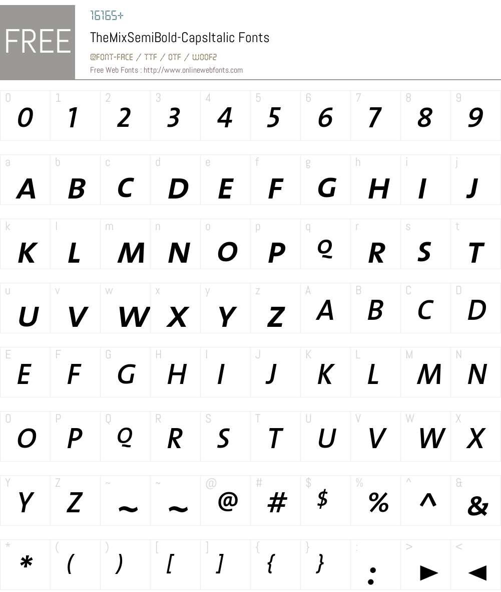 The Mix Semi Bold- Font Screenshots