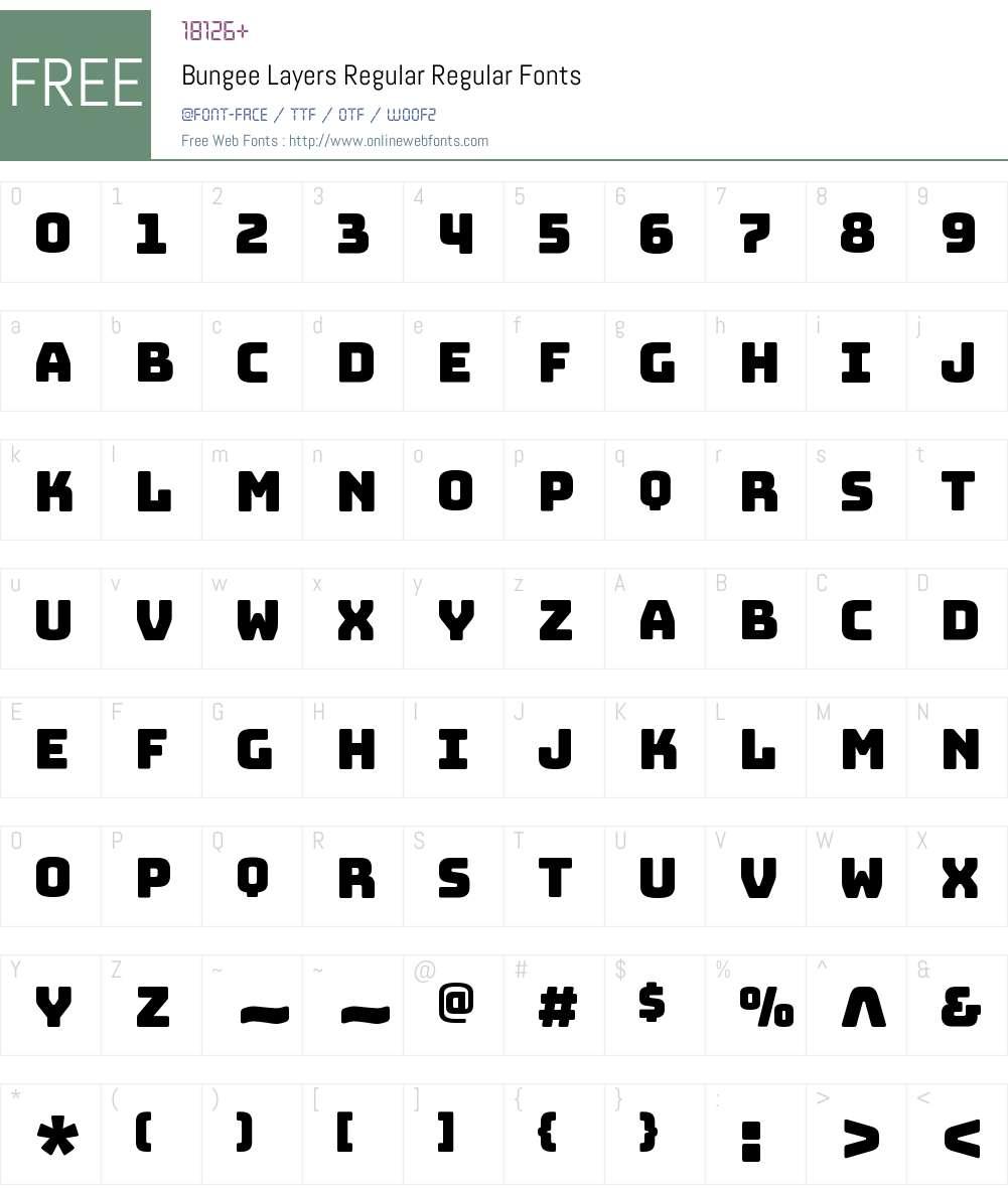 Bungee Layers Regular Font Screenshots